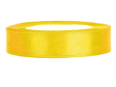 satijn lint 1.5 cm breed geel