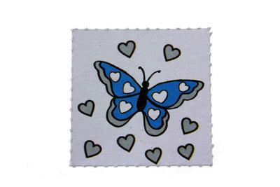 Label vlinder Aqua