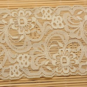 Kant 8.5 cm breed off-white elastisch
