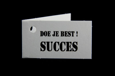 Kaartjes doe je best! succes