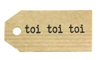 Kraft label toi toi toi