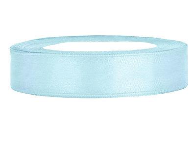 Licht blauw satijn lint 1.5 cm breed