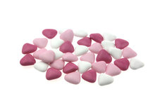 Doopsuiker hartvormig mini mix roze
