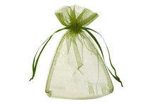 Organza zakje 7,5 x 10 cm Olijf groen