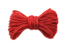 10 meter Hennep touw rood