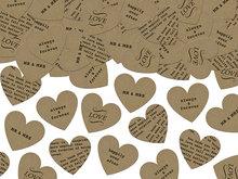 Kraft confetti hartjes